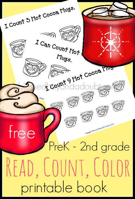 FREE Read, Count, and Color – Hot Cocoa Edition