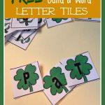 FREE Shamrock Letter Tiles