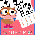 FREE PreK and Kindergarten Math Printables – Winter Owl Themed