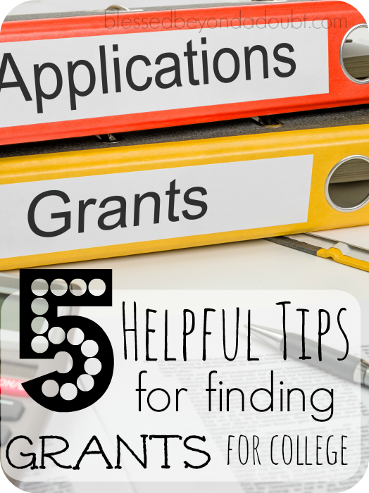 Follow these 5 tips for finding grants for college admission. They are out there. You just have to find them.