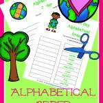 FREE Alphabetical Order Printables – Earth Day Edition!