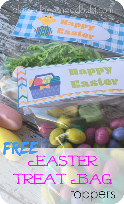 FREE Easter Treat Bag Toppers. I have my children prepare these for their friends and teachers.