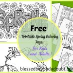 20 + Free Printable Spring Coloring Sheets For Kids (and Adults)