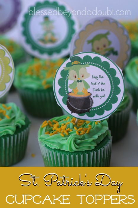St. Patrick's Day Cupcake Toppers_featured