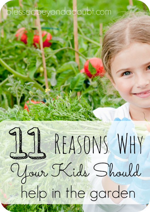 You should allow your children to help in the garden. Check out the reasons why it's beneficial. Do you agree?
