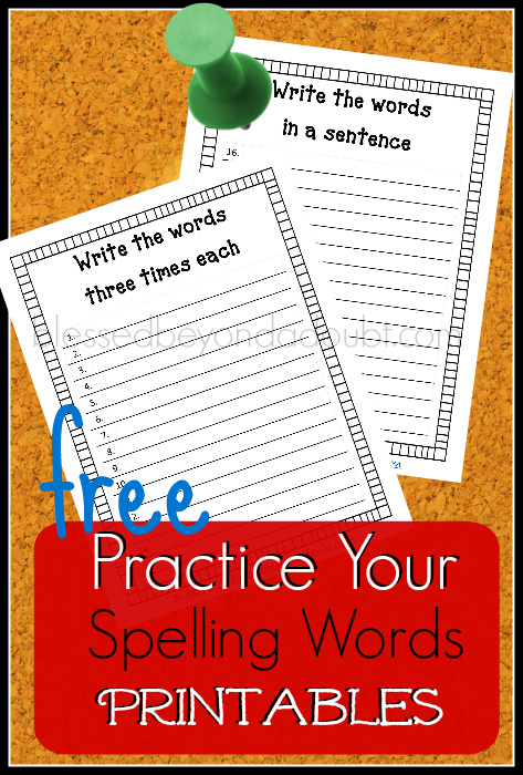 Practice your spelling words with these simple printables. They work wonders for my kiddos.