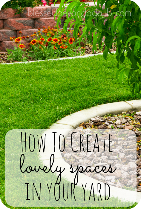 Here are 8 simple ways tiy can create lovely spaces in your yard. Which one will you try first?