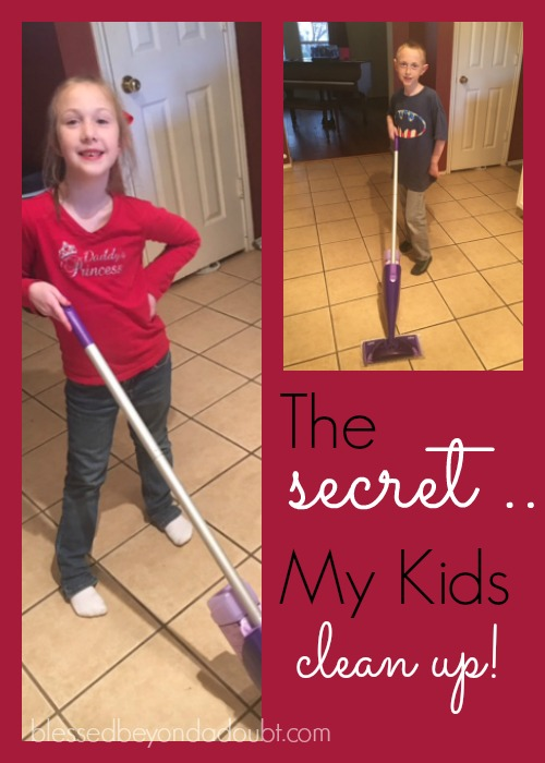 Check out how I get my kids to clean their own messes. Yours will too! #yestothemess #ad