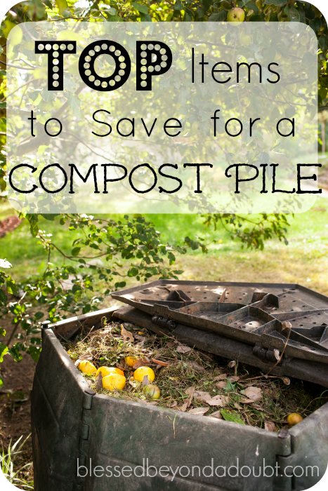 The top items you need to be saving for your DIY compost pile. Do you have any to add?