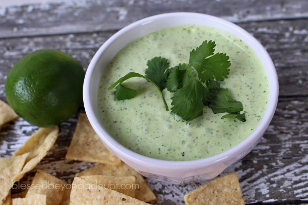 The best creamy jalapeno dip recipe that's a copycat recipe found at Chuy's.