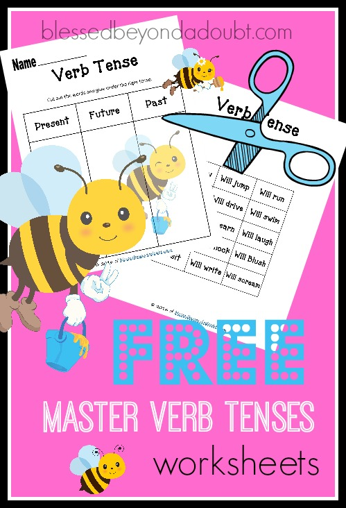 Learn and master verb tenses with these FREE cut and paste hands-on worksheets.