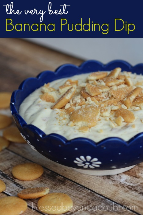 EASY Banana Pudding Dip Recipe