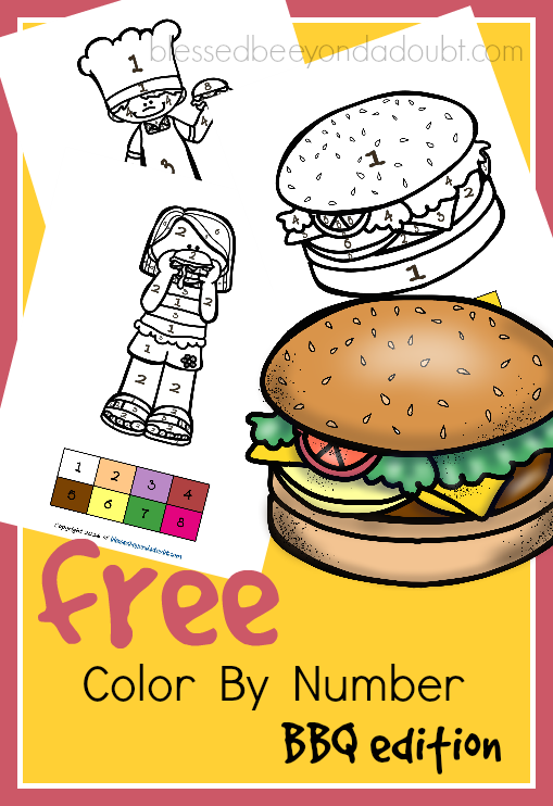 Grab these FREE color by number - BBQ edition. These are perfect for the summer months.