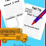 FREE Field trip notebook pages for school and homeschool students. Record and keep your memories.