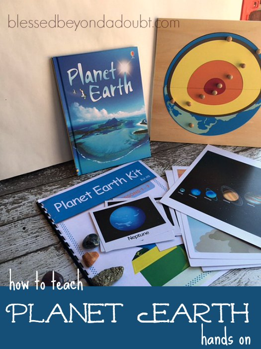 You can easily teach Planet Earth with a hands-on approach. It's fun and engaging for students. #ad