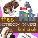FREE The Secret Life of Pets Binder Covers and Sleeves