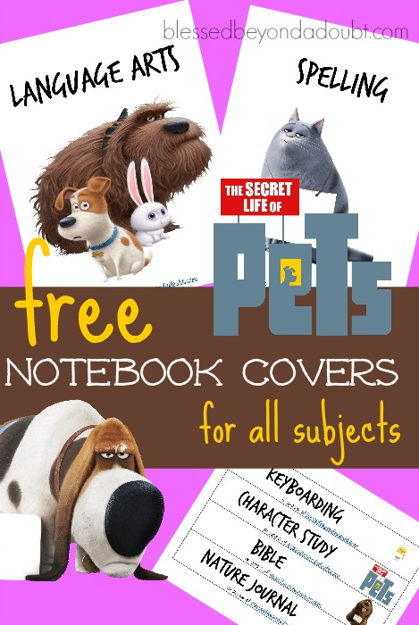 Hurry and grab these FREE The Life of Pets notebook covers today! Perfect for all students.
