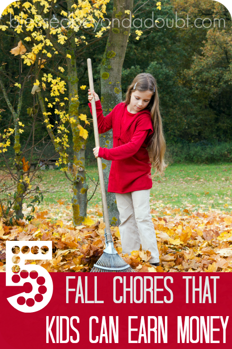Fall Kids Chores that will help you out and will earn them some money.