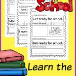 FREE Learn the Sentence Printables- Back to School Edition!