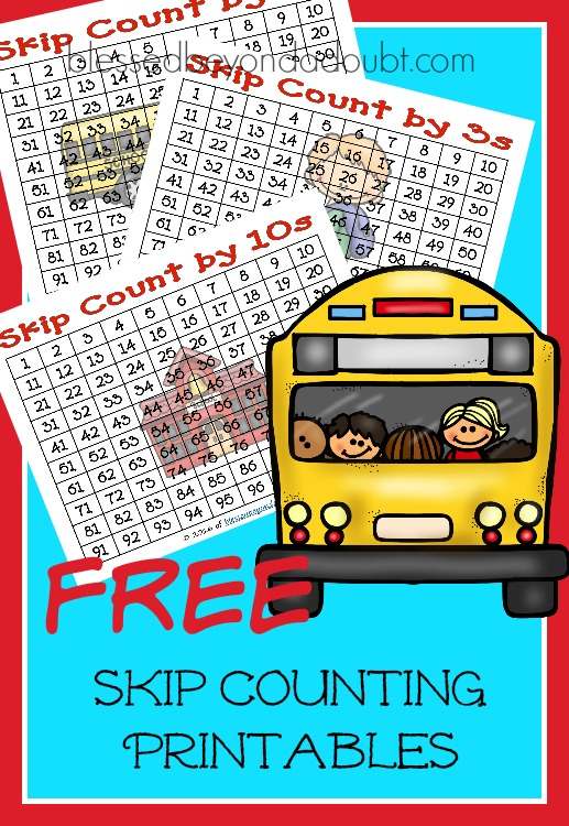 FREE Multiplication Skip Counting Worksheets – Back to School edition