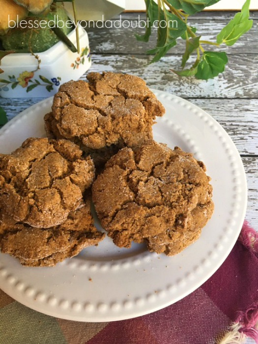 This ginger molasses cookie recipe is so easy! It calls for a spice cake mix. So good!