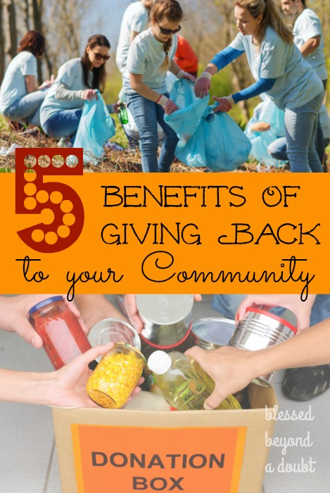 There are so many benefits in giving back to your community. Here are 5 benefits that just might surprise you. Do you agree?