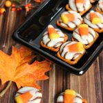 Candy Corn Pretzels Melts