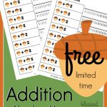 FREE Addition on a Number Line Worksheets – Fall edition