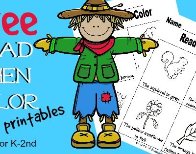 FREE Read Then Color Printables – Fall Edition
