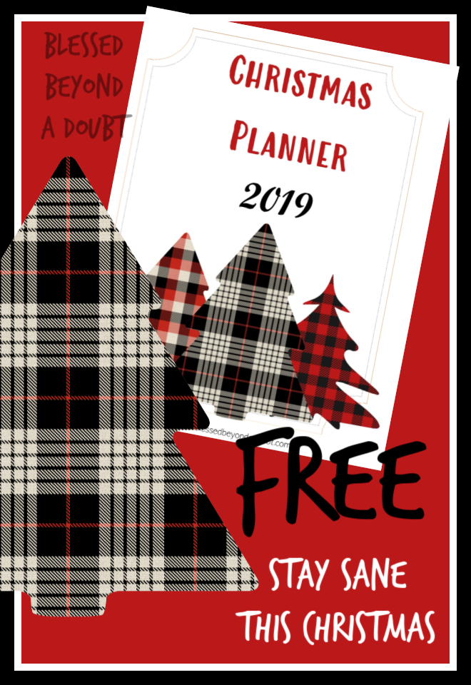 Free Christmas Planner Notebook that will Keep YOU SANE!   Blessed