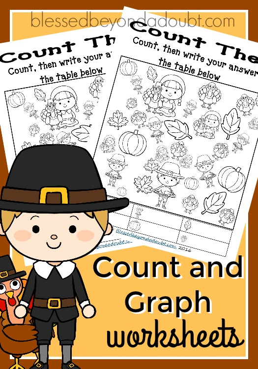 FREE Count and Graph Worksheets – Thanksgiving Edition
