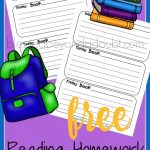 FREE Reading Homework Summary Printables