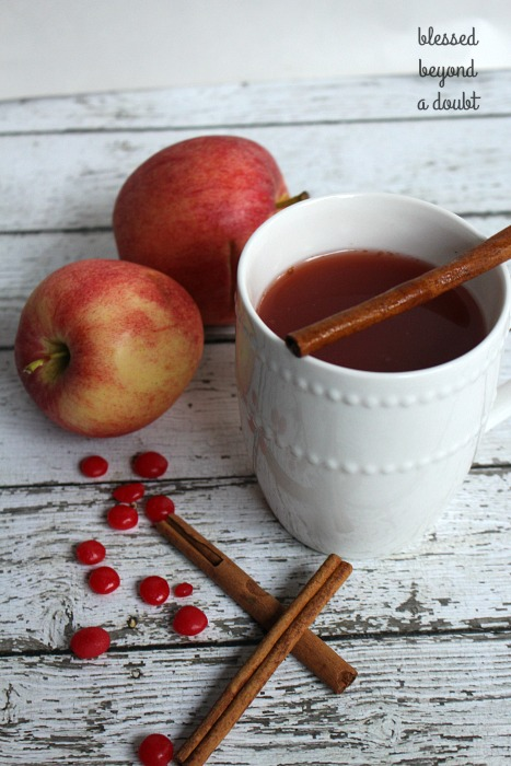This easy hot apple cider is always hit! We make this hot apple cider receipe several times during the holiday seasons. Check out the secret ingredient.