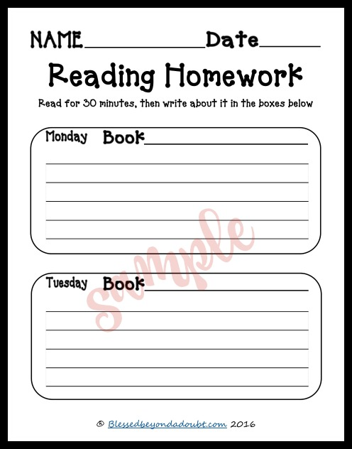 These free reading homework summary logs are perfect for any classroom or homeschool setting. There's a room for the student to write a short summary of what they read each night.