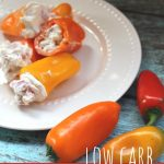 So EASY Low Carb Stuffed Sweet Pepper Snack