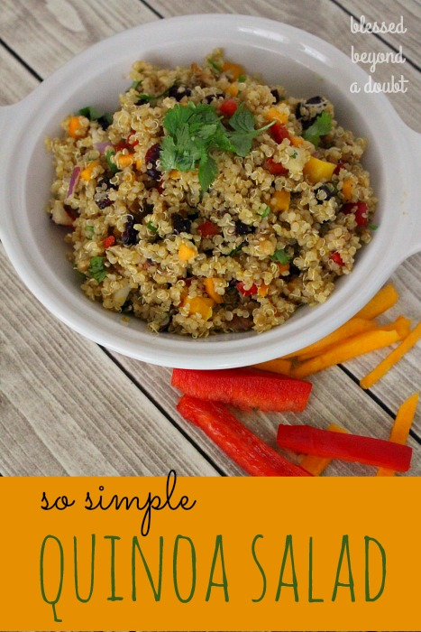 EASY quinoa salad with cranberries and walnuts makes a beautiful side dish. It's extremely healthy and uses no oil. Try it today!