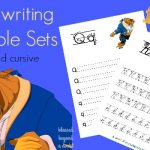 FREE Beauty and the Beast Handwriting Printable Set – Print and Cursive Edition