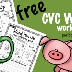 FREE CVC Word Worksheets – Unscramble the CVC word
