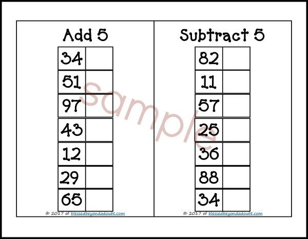 FREE Addition and Subtraction Worksheets Blessed Beyond A Doubt – Free Addition and Subtraction Worksheets
