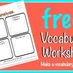 FREE Vocabulary Worksheet