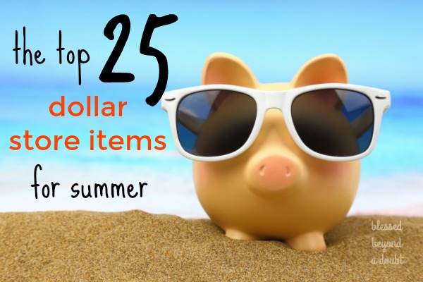 The TOP 25+ Summer Items to get at the Dollar Store!
