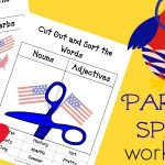 FREE Parts of Speech Worksheets pdf – 4th of July Edition!