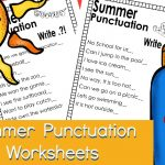 FREE Punctuation Worksheets – Summer Edition