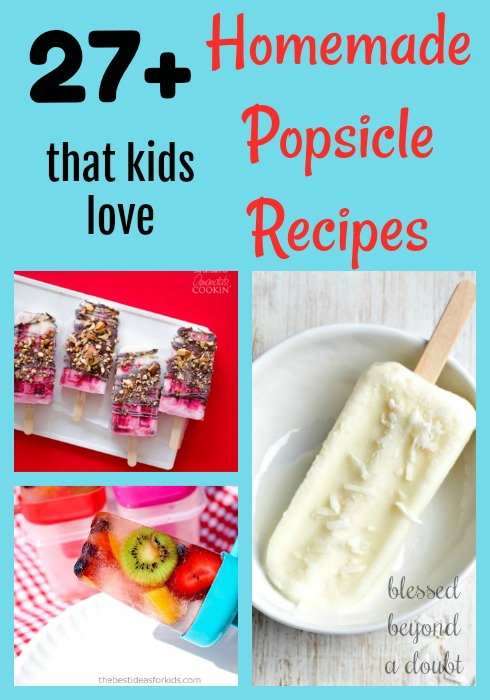 Many refreshing Homemade Popsicle Recipes that your kids will love. Try the sparkle or gummy bear popsicles for a treat. There are so many homemade popsicle recipes to choose from.