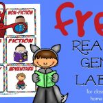Free Reading Genre Labels for Book Organization