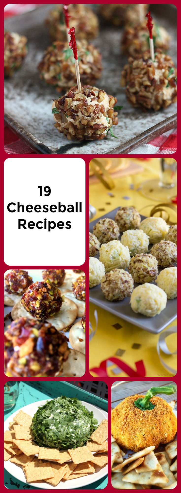 Try these easy cheese ball recipes that will rock your party! Which one will you try first? Check out my very favorite cheese ball recipe. I adore the creaminess and the blue cheese.