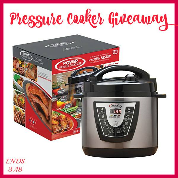 Win our favorite pressure cooker! Hurry giveaway ends 3/18.