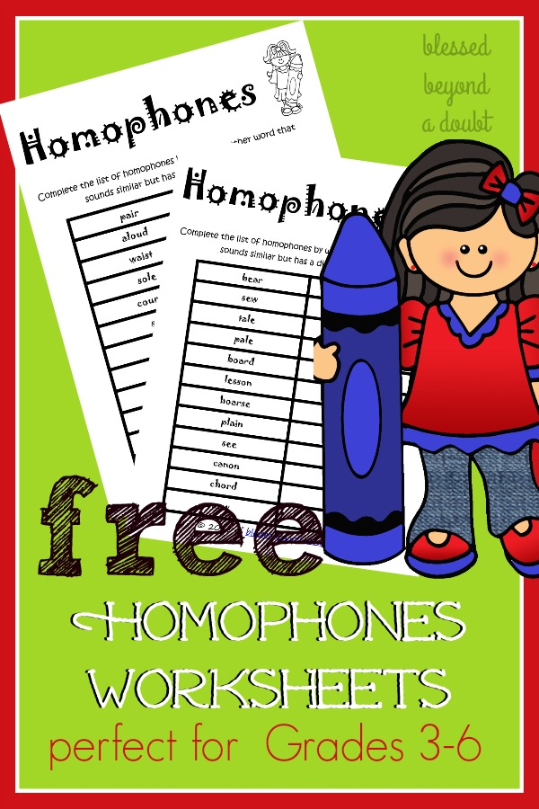 Here are FREE Homophone Worksheets that will help your students master homophones. Check out my weekly idea!