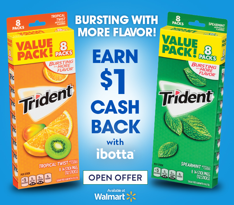Trident Gum Offer at Walmart