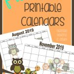 print your FREE  2019 Monthly Printable Calendars